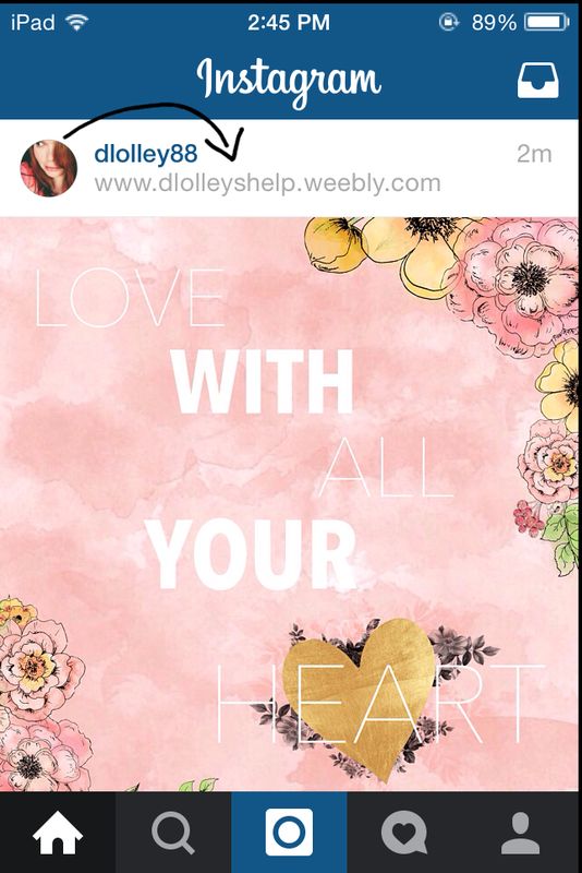 How to add a url above your photo in instagram dlolleyshelp once your photo is posted to instagram you should now be able to see you url above your photo thats all there is to it ccuart Image collections