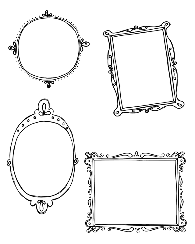 Chalk Transparent Border: 10 Free PNG Doodle Frame Blog Boards